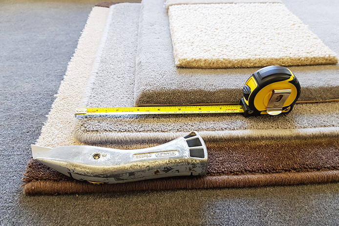 Measuring for custom made carpets in Lancashire