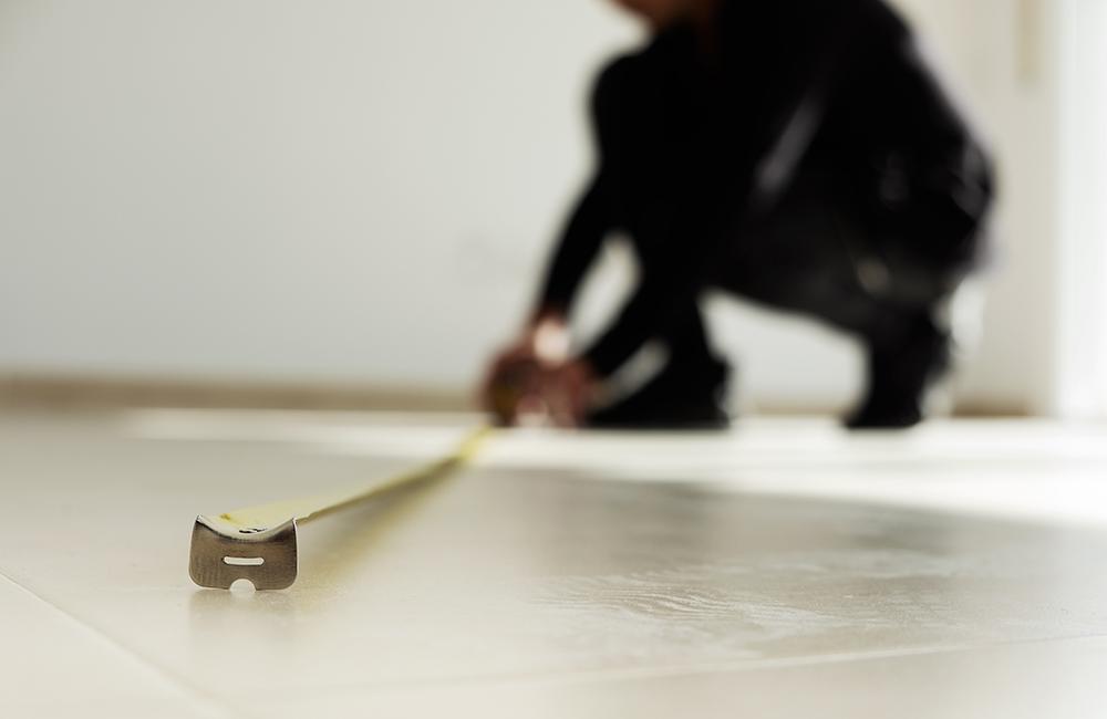 measuring a custom made carpet